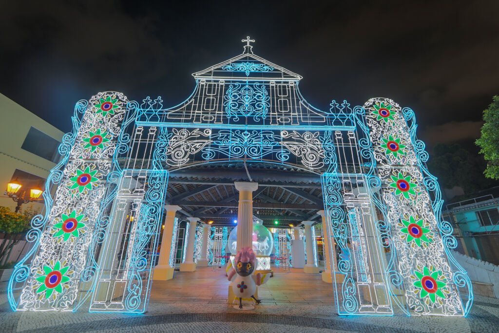 macao light festival 2020 church installation
