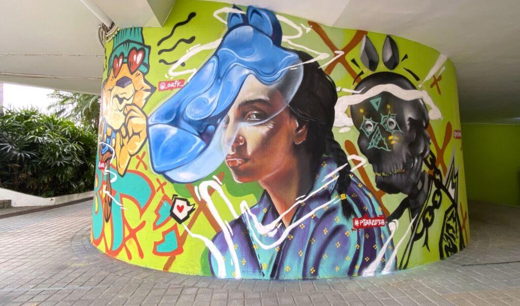 """Graffiti """"Verão Colorido"""" apresentado no Anim'Arte NAM VAN"""