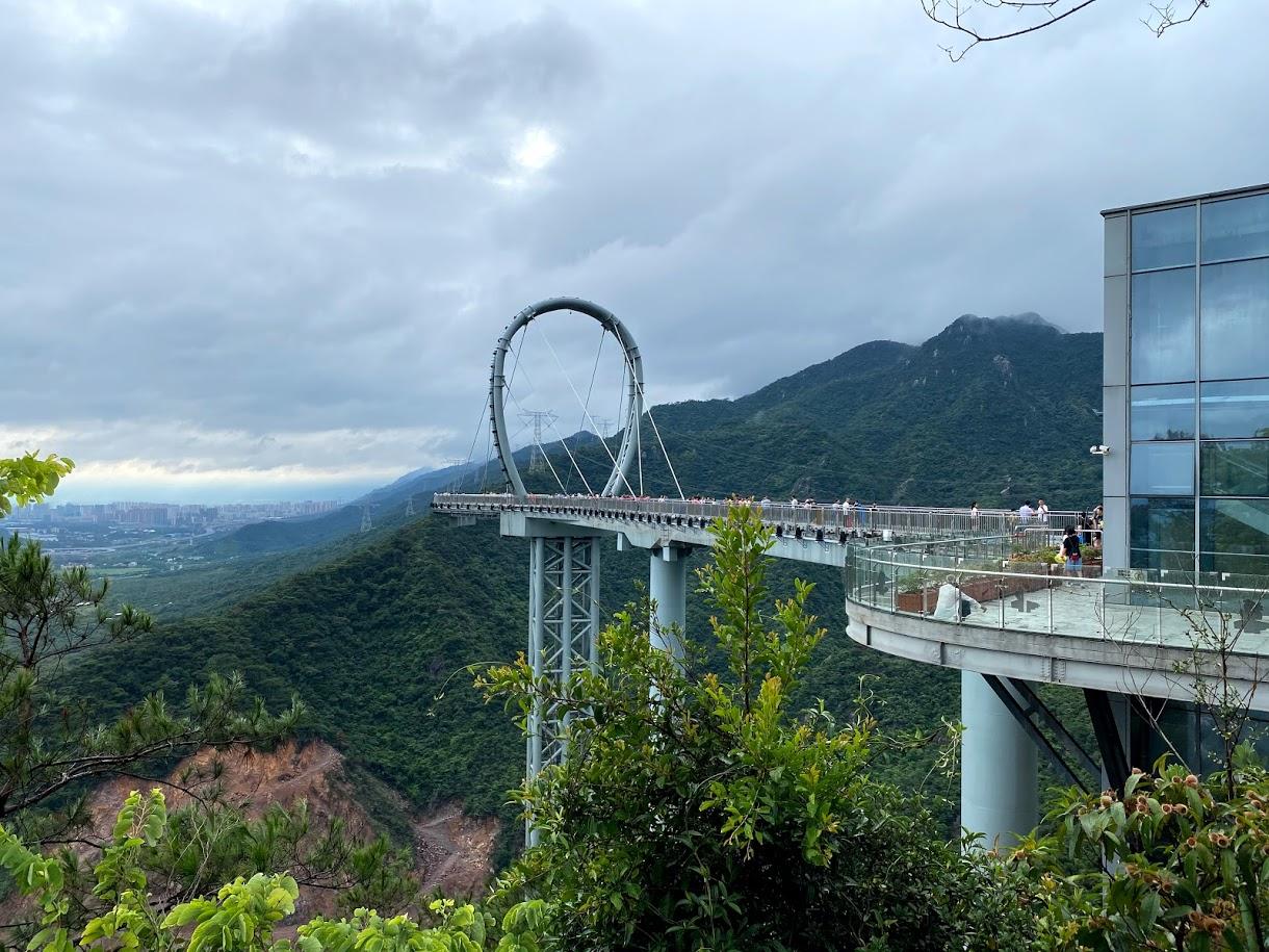 Huangteng Gorge Glass Skywalk landscape qingyuan macau lifestyle