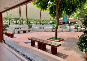 Macao Polytechnic Institute Indoor Patio with Seating Areas Macau Lifestyle