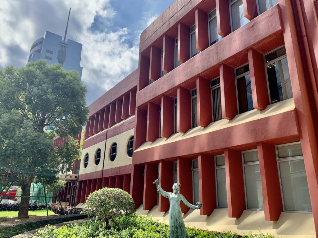 Macao Polytechnic Institute Indoor with Statue Macau Lifestyle