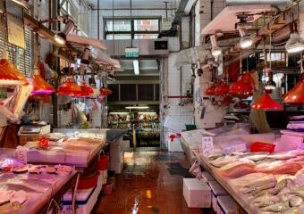 Red Market Indoor Main Alley Fish Macau Lifestyle