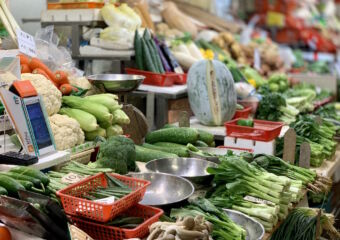 Red Market Indoor Vegetables Stalls Macau Lifestyle