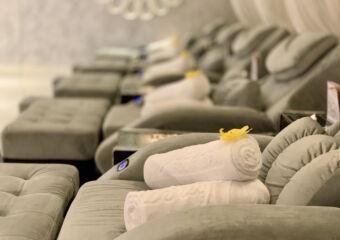 Studio City Vinca Foot Spa Foot Massage Chairs Blurred Background Macau Lifestyle