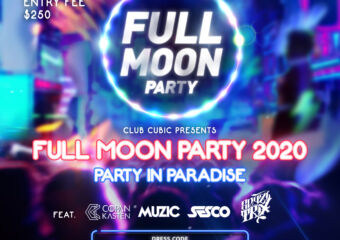 full moon party at cubic