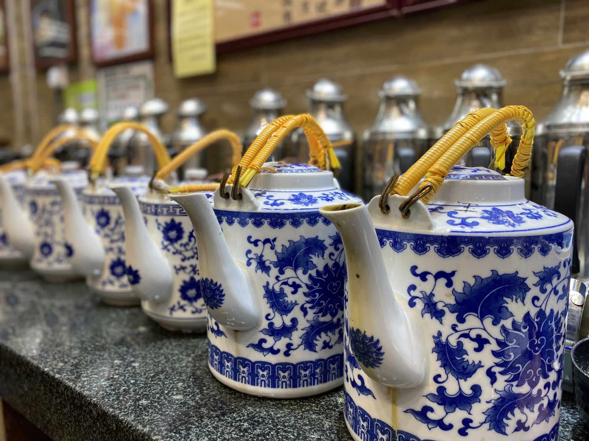 large tea pots in herbal tea shop U Bo Wo macau lifestyle