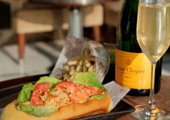 Champagne and Lobster Roll Vida Rica Bar Mandarin Oriental November and December 2020