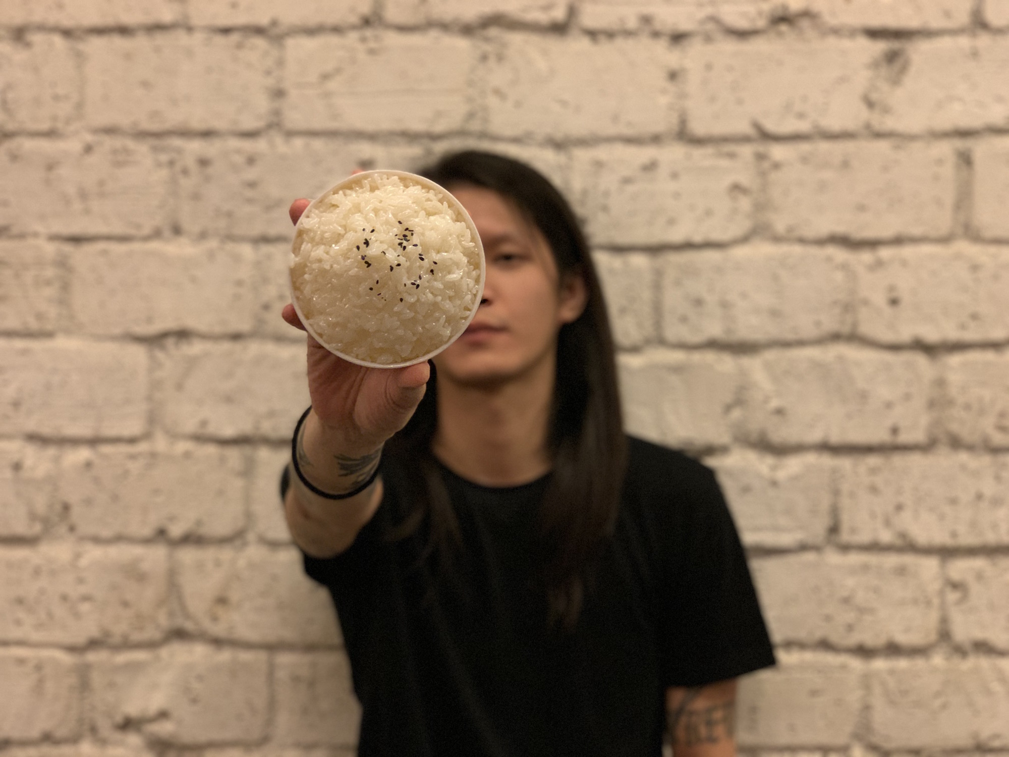 Dickson B Cheong from Live Music Association Blurred Face with Focused Rice Bowl Macau Lifestyle