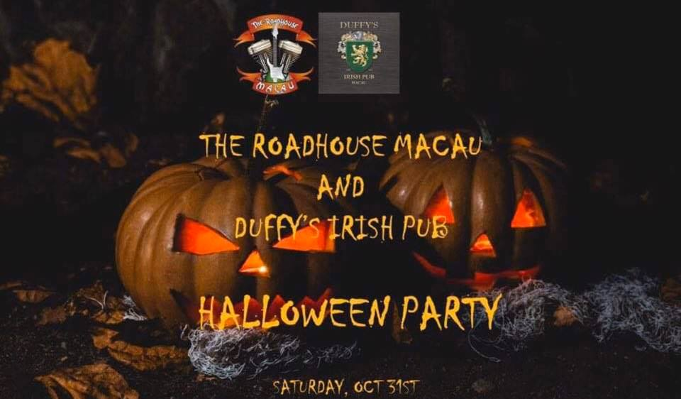 halloween party the roadhouse and duffys macau october 2020