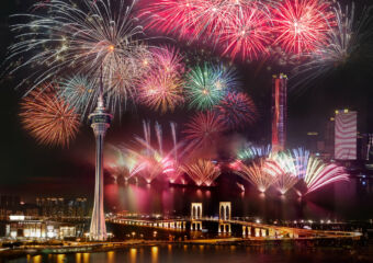 macau fireworks macau tower 2020