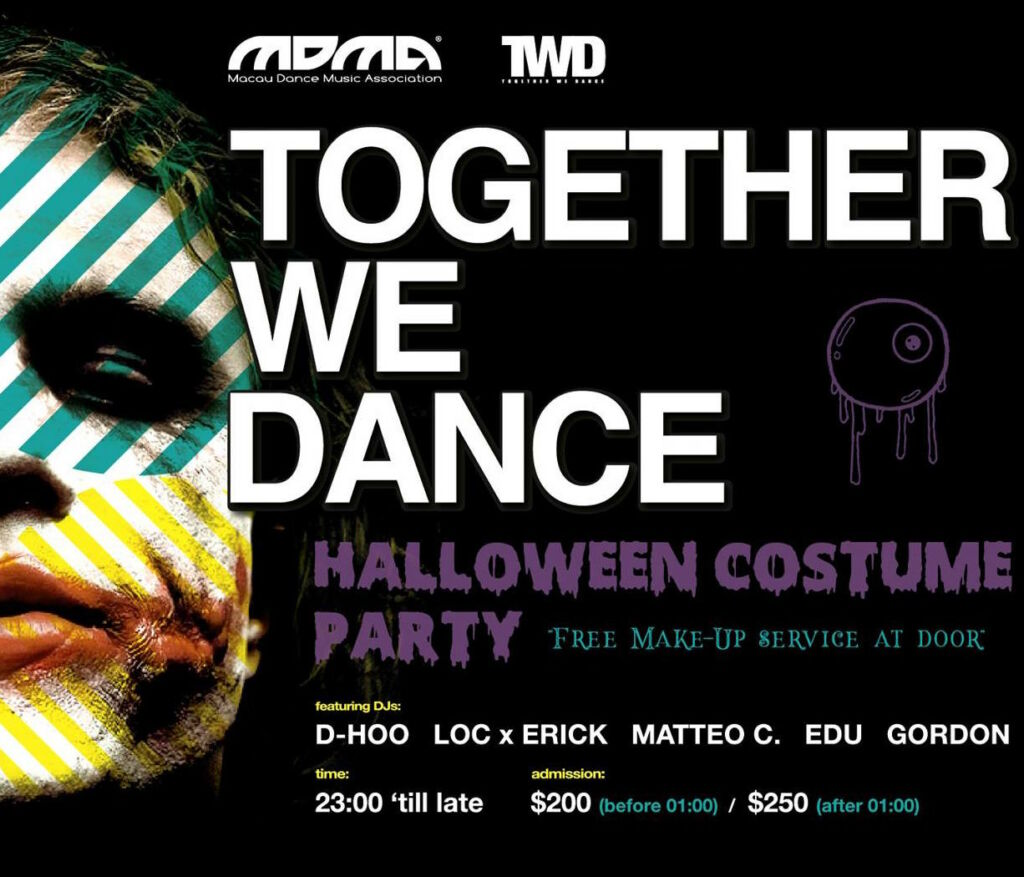 together we dance halloween party october 2020