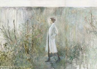 Wild Garden, Woman and Wall No. 3 (2019), by He Duoling