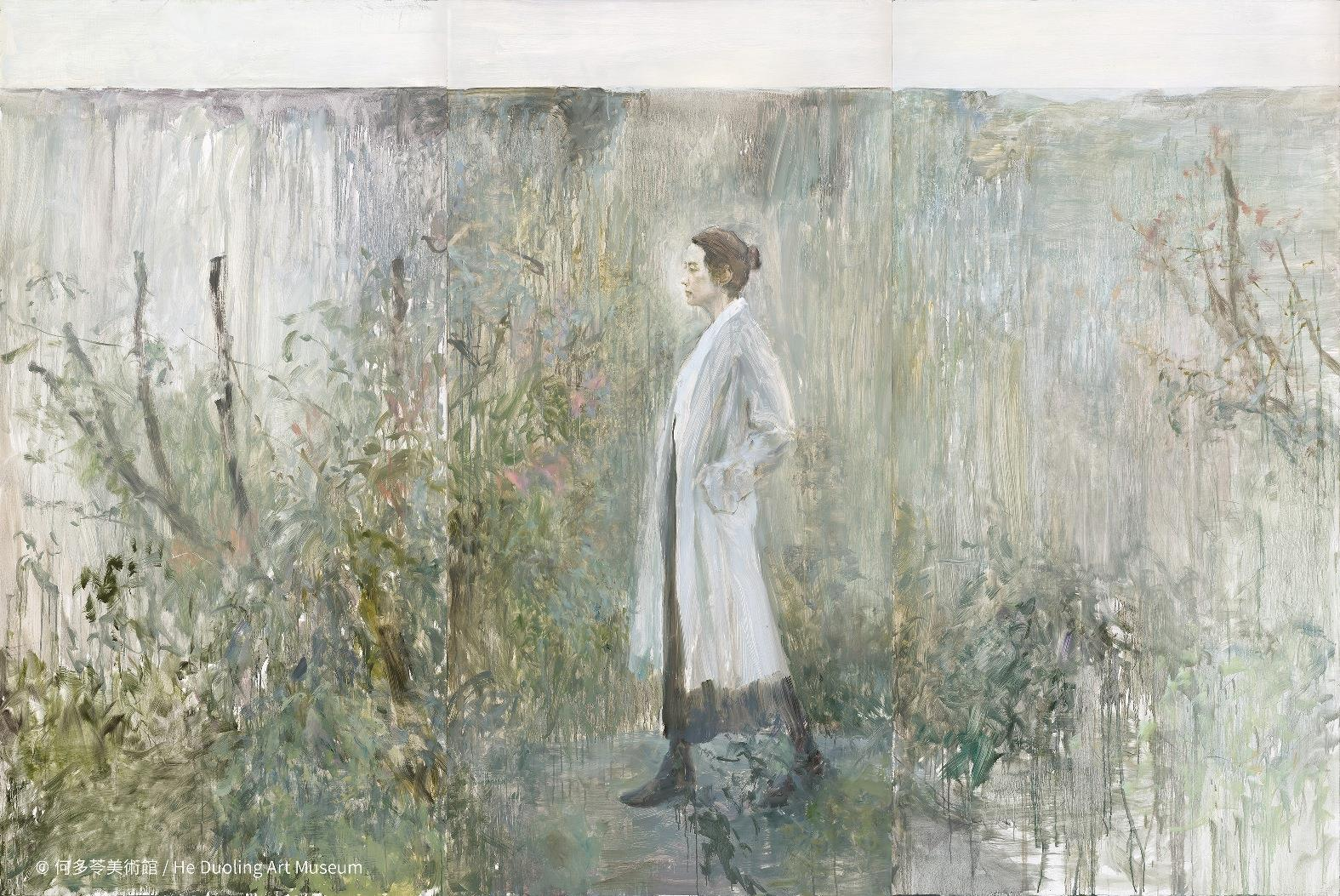 Wild Garden, Woman and Wall No. 3 (2019), by He Duoling