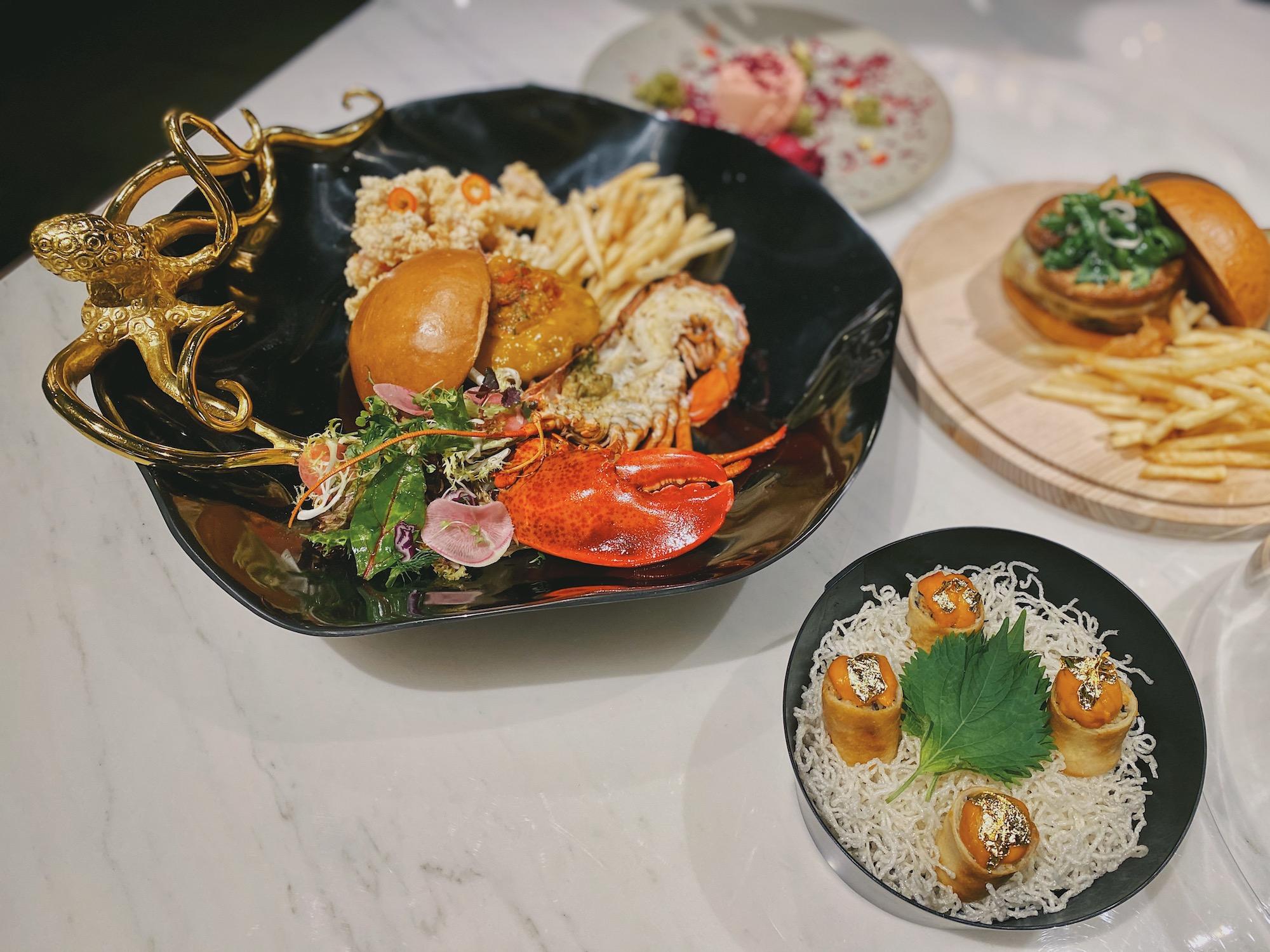 the-st-regis-bar-macao-macau-lifestyle-platter-springrolls-chicken-burger