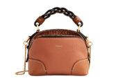 CHLOE Mini Daria bag in Muted Brown
