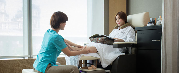 foot massage at Tria Spa MGM Macau