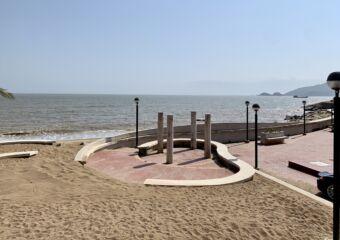 Cheoc Van Beach outdoor shower area