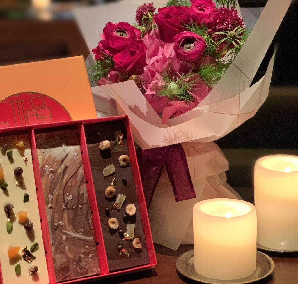 Grand Hyatt Macau情人節禮盒(朱古力及花束禮品裝) Valentine's Gift Set