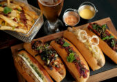 Vida RIca Bar Hot Dog Pop Up with Drink from Above