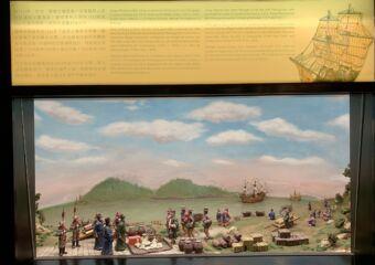 Macao Museum permanent exhibition Jorge Alvares explorer model