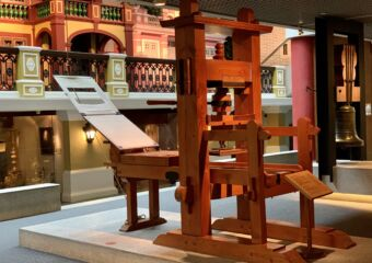 Macao Museum permanent exhibition antique printing press