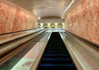 Macao Museum indoor escalator