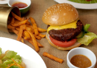 Vegan Burger Lobby Lounge Mandarin Oriental Macau