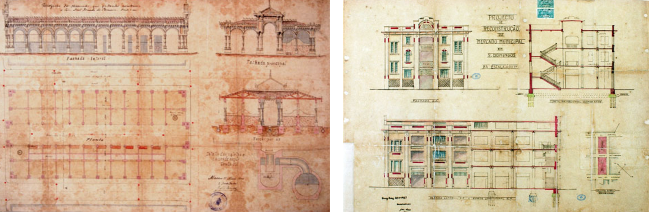 s domingos market restoration plans from 1908 and 1927 Source Macao Archives Last
