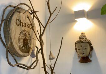 Chakra Space facade chakra motifs