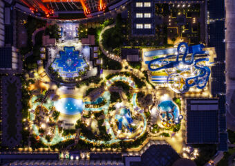 Studio City Water Park Night View from Above