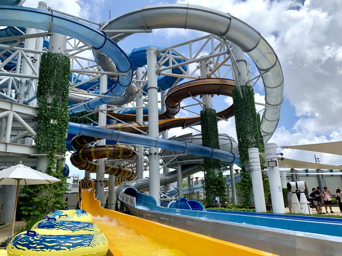 Studio City Water Park Highpoint Twister close up