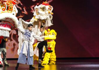 Awakening Lion MGM Cotai with Lion and Performers