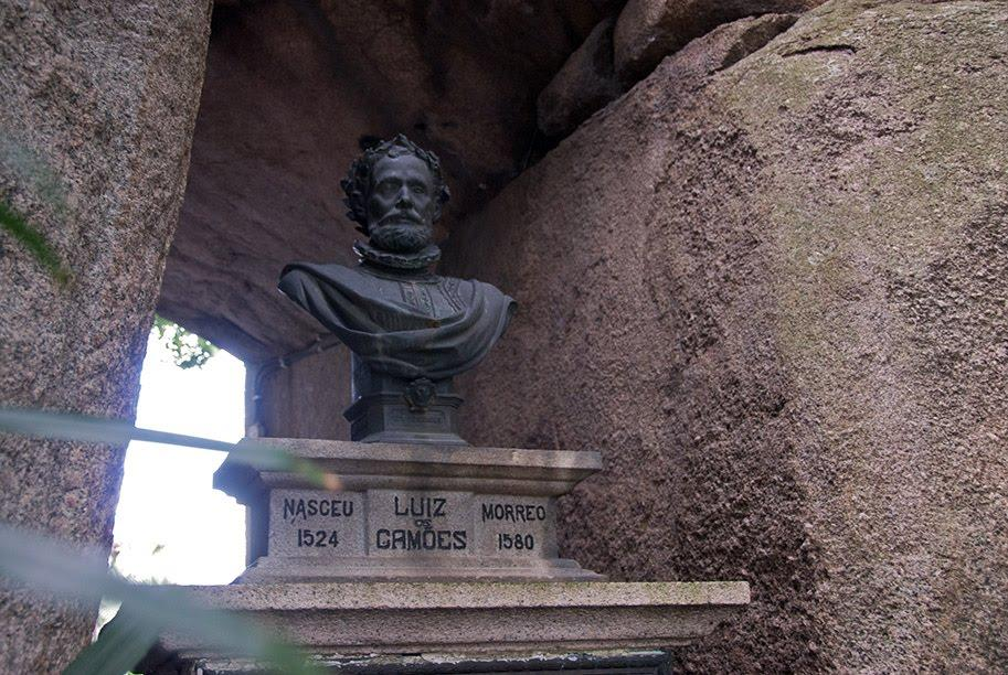 Camões Bust in Grotto