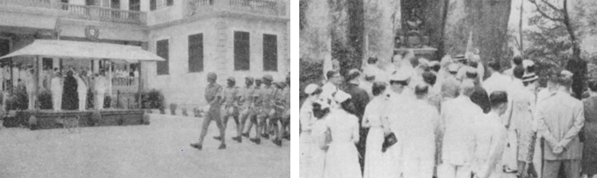 June 10, 1955: Military Parade at the Governors Palace and Pilmigrage to Camoes Grotto