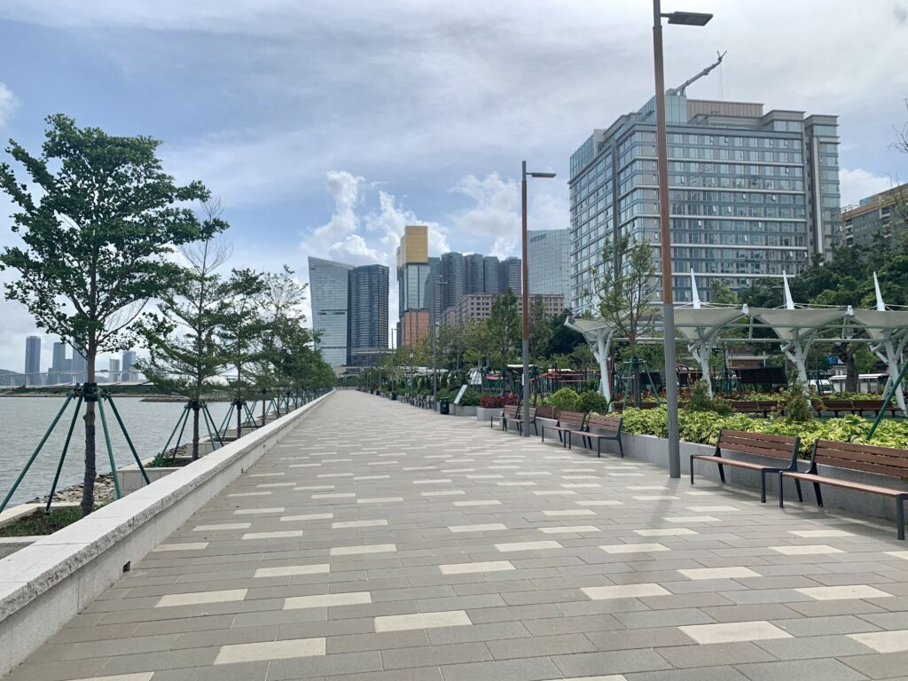 Kun Iam Statue Waterfront Leisure Area promenade