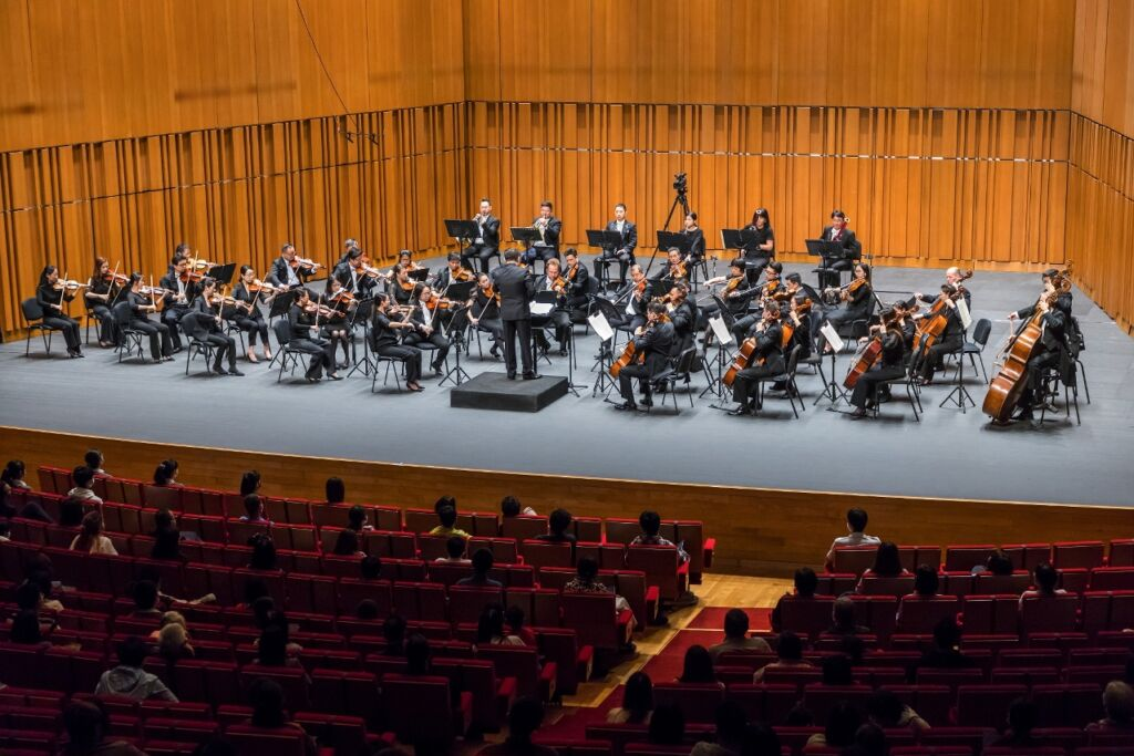 Macao Orchestra from the Side