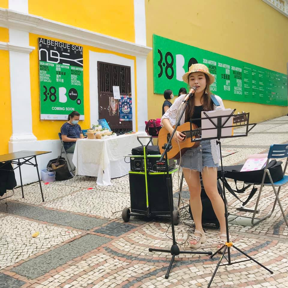 Woman Singing at Sun Never Left Activities