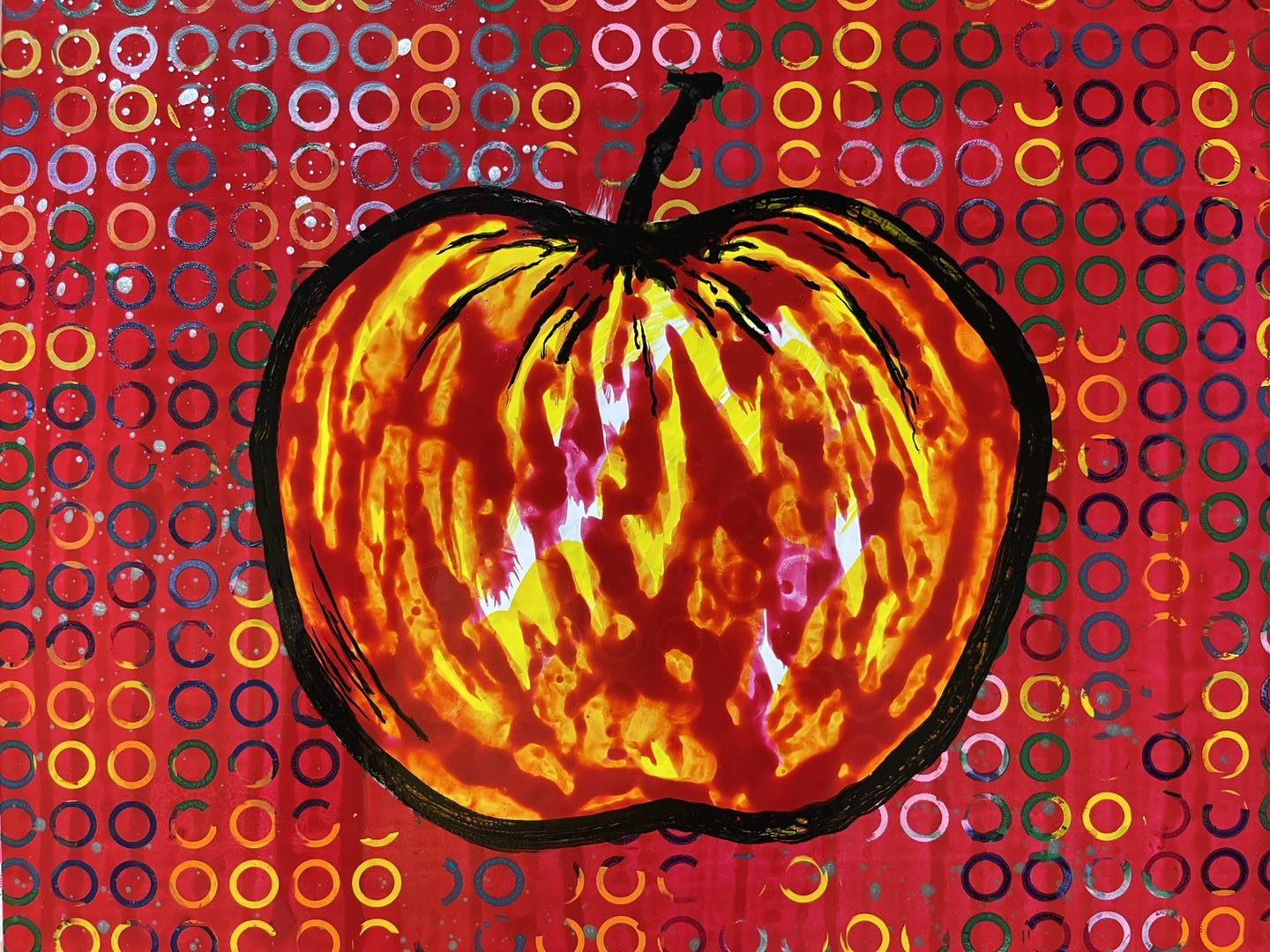 exhibition endless desire painting of an apple