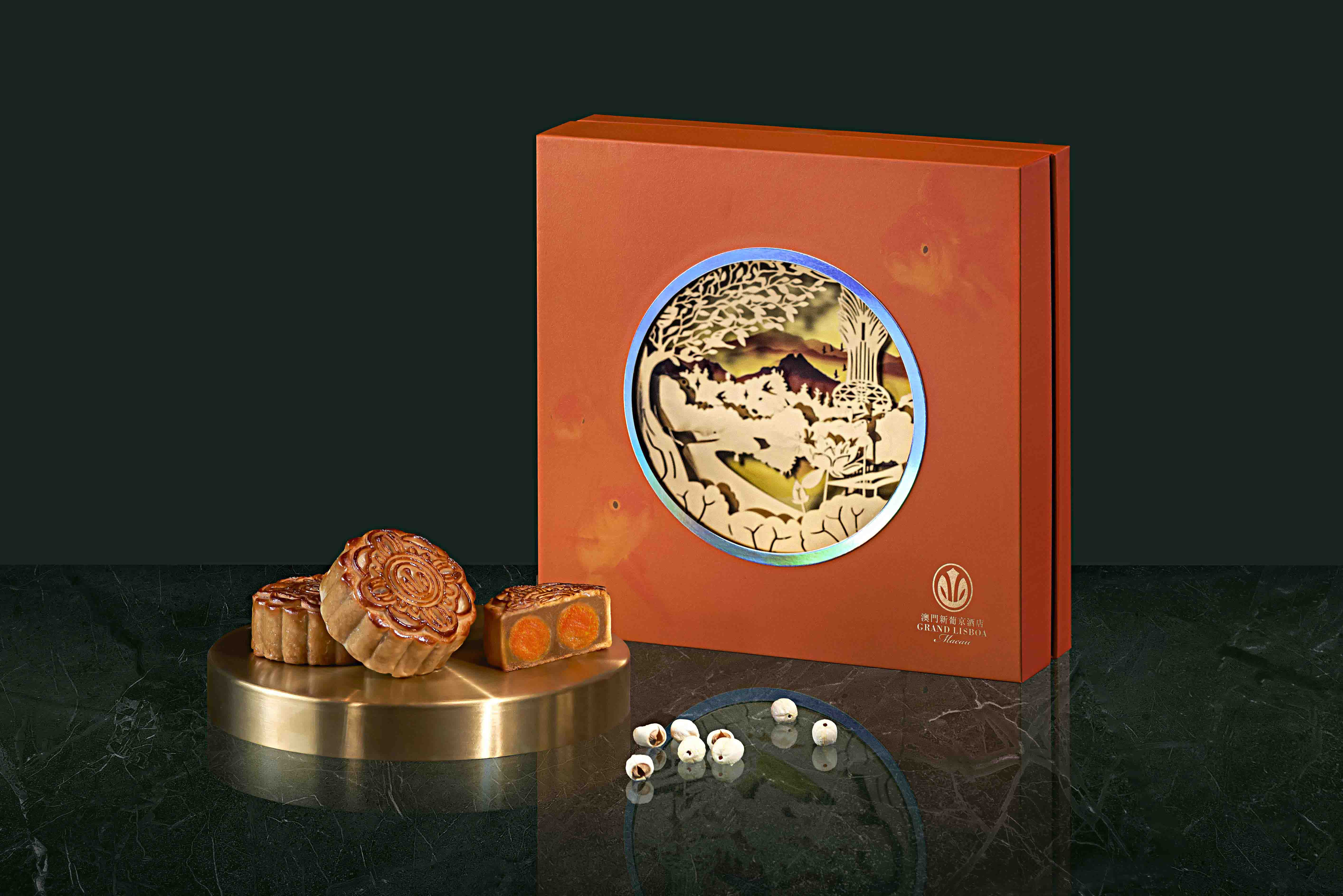 Grand Lisboa The 8 Mooncake with Double Egg Yolk and Lotus Seed Paste
