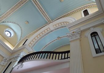 St Lawrence Sao Lourenco Church Turquoise Ceiling
